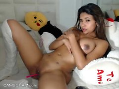 Sensual Teen Camslut Showing Off Her Pussy On Webcam