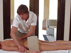 Steamy hot oil massage