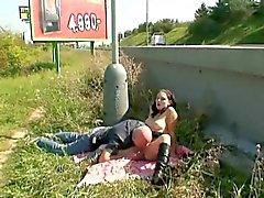 Naughty Couple Public Sex Roadside
