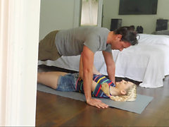 Pinned and pounded by dad