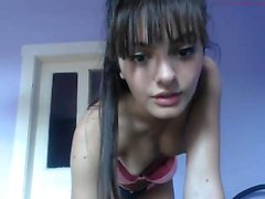nerdy teen in underwear teases on webcam - viewcamgirls,com