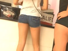 Petite Teen In Spandex Shorts