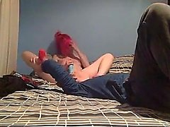Sweet Emo Teen in Striped Socks get Fucked on Webcam #1