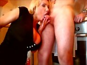 Milf films herself fucking and sucking young guy
