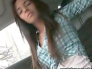 All alone teen Gina Devine pussy banged in the backseat