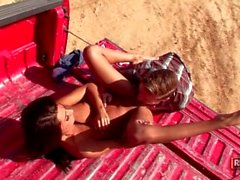 Lexi Diamond Gets Dirty in the Dust