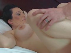 cougar with big fake tits fuck her toy boy