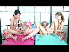 Orgasm World Championship: four teens. Katy Clover, Izzy Delphine, Ariel