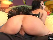Rebeca Linares in fishnets gets pounded