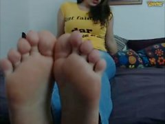 Private Show Cute Young Brunette Feet Licking - Webcam Chaturbate CB