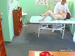 Doctor spread spunk all over teen