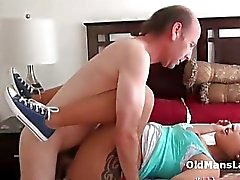 Old man licks latina Jynx ass and pussy