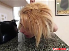 Naughty blonde teen Lilli Dixon gets railed by big cock