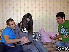 Kinky Russian dudes watches his girlfriend get fucked