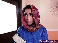 Busty muslim teen creamed