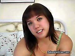 Bigtit chubby latina toying