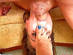 EvilAngel Riley Reid sloppy face fucking