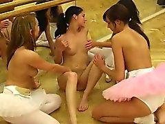 Lesbian pissing - 6 Hot ballet dame orgy