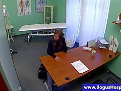 Real teen babe gets stripped by her doctor