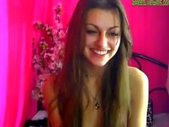 brunette teen playing with a pink dildo 6 .wmv