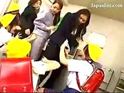 Asian Schoolgirls In Uniform Raping 3 Teachers Planting Flower To Their Assholes In The Classroom
