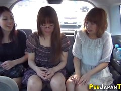 Japanese urinate in car
