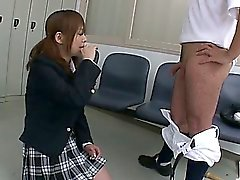 Afterschool fun with horny teen Nozomi Hazuki and her