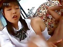 18yo girlfriend from asia gives handjob