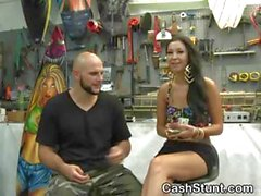 Amateur Girls Flash Titties In Store For Money Talks Stunt