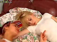 two naked schoolgirls fingering pussies