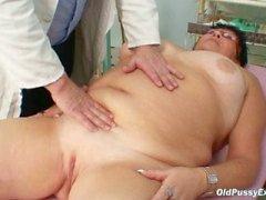 Busty granny Tatana for horny grandpa doctor