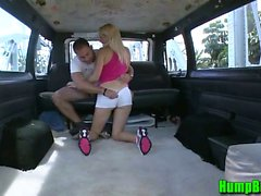 Blonde Jogger Sucking Dick on the Hump Bus