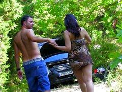 She Helps Him Fix His Car, And Boner