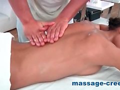 Petite young girl ends massage with anal