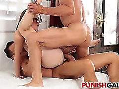 Teen Nickey Huntsman gets double penetrated