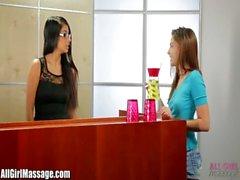 AllGirlMassage Cute Cassie Laine Lesbian Massage