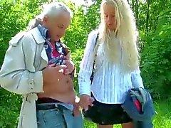 young slut get jerking-off 2 Older Strangers