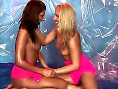 Lesbian teen babes have huge orgasms Hot gal wrestling