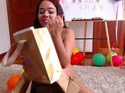 Brunette teen hot pussy masturbation