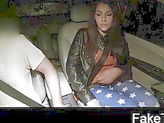 Beautiful young girl gets taxi stung