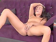 Flawless czech hottie lexi dona masturbates and orgasms