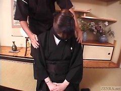 Subtitled mourning Japanese wife Aya Otosaki debt payback