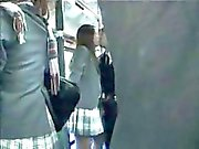 Japanese couple had heavy petting in the bus!