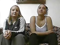 Shy German girls in an amateur scene