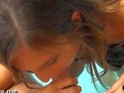Stimulating bikini teen gets plugged up pecker riding