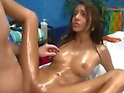 Skinny Teen Janice Griffith gets a sensual Massage