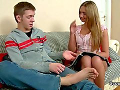 Step-Brother seduce German Sister to her First AssFuck
