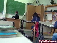 Taissia Shanti pounded in the classroom