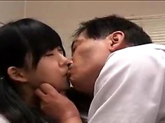 Pigtailed Oriental teen takes every inch of hard meat at ev
