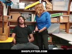 Shoplyfter - Hot Busty Guard Fucks Young Thief